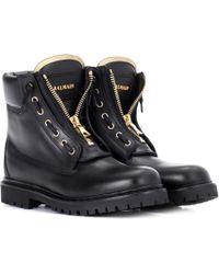 Balmain - Taiga Leather Boots - Lyst