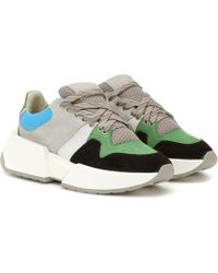 MM6 by Maison Martin Margiela - Paneled Suede Sneakers - Lyst