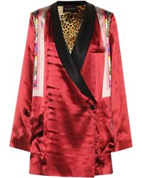 Etro - Wrap Over Printed Satin Jacket - Lyst