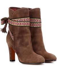 Etro - Suede Ankle Boots - Lyst