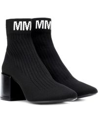 MM6 by Maison Martin Margiela - Knitted Ankle Boots - Lyst