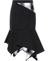 Monse - Asymmetric Plaid-paneled Skirt - Lyst