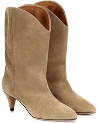Isabel Marant - Dernee Suede Ankle Boots - Lyst