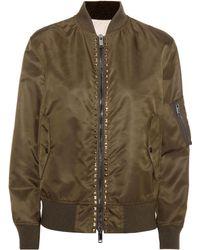 Valentino - Rockstud Untitled Bomber Jacket - Lyst