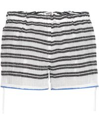 lemlem - Selina Striped Cotton Shorts - Lyst