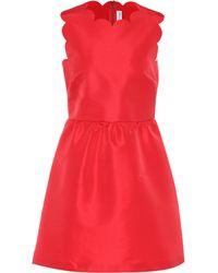 RED Valentino - Scalloped Satin Dress - Lyst
