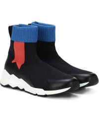 Pierre Hardy - Flash Comet Knitted Sneakers - Lyst