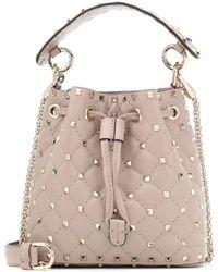 Valentino - Candystud Leather Bucket Bag - Lyst