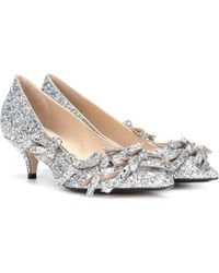 N°21 - Glitter Bow Pumps - Lyst