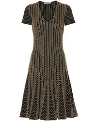 Roberto Cavalli - Metallic Jacquard Midi Dress - Lyst
