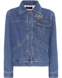 Isabel Marant - Ensley Embellished Denim Jacket - Lyst