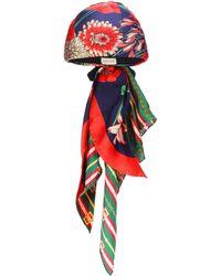 Gucci - Spring Bouquet Silk Turban - Lyst