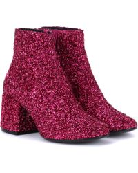 MM6 by Maison Martin Margiela - Bead-embellished Ankle Boots - Lyst