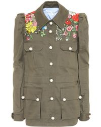 Veronica Beard - Embroidered Cotton Jacket - Lyst
