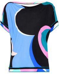 Emilio Pucci - Silk-blend Jersey Top - Lyst