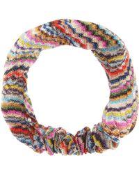 Missoni - Metallic Knitted Headband - Lyst