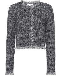 Oscar de la Renta - Bouclé Wool-blend Jacket - Lyst