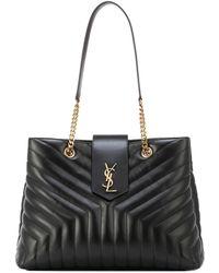Saint Laurent - Large Loulou Leather Shopper - Lyst
