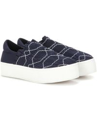 Opening Ceremony - Cici Smocked Platform Slip-on Trainers - Lyst