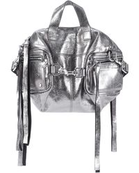 McQ - Metallic Leather Shoulder Bag - Lyst