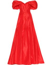 Carolina Herrera - Silk Taffeta Off-the-shoulder Gown - Lyst