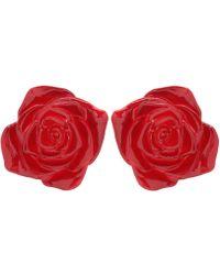 Undercover - Resin Rose Earrings - Lyst