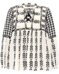 Dodo Bar Or Embroidered Cotton Top - White