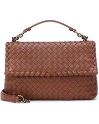 Bottega Veneta Olimpia Intrecciato Leather Shoulder Bag in Natural ... 18af9b0deee8f