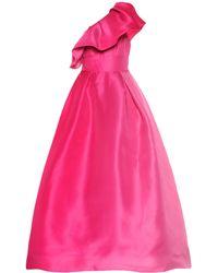 Monique Lhuillier - Vestido de fiesta de seda - Lyst