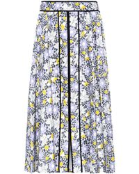 Carolina Herrera - Floral Etched Midi Skirt - Lyst