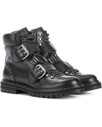 Jimmy Choo Breeze Flat Leather Ankle Boots - Black