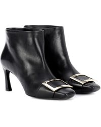 Roger Vivier   Trompette Extra Low Leather Ankle Boots   Lyst