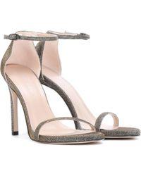 Stuart Weitzman - Nudistsong Metallic Sandals - Lyst