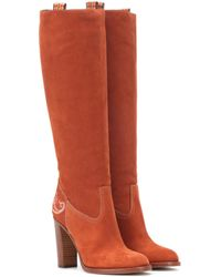 Etro - Suede Knee-high Boots - Lyst