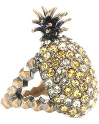 Gucci - Crystal Pineapple Ring - Lyst
