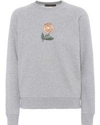 ALEXACHUNG - Embroidered Cotton Sweatshirt - Lyst