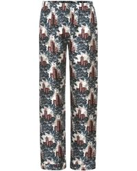 Burberry - Cropped Pyjama Trousers - Lyst