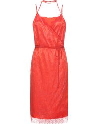 Nina Ricci - Lace And Satin Dress - Lyst