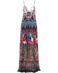 Roberto Cavalli - Long Patterned Dress - Lyst