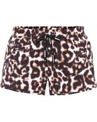 The Upside - Leopard-printed Running Shorts - Lyst