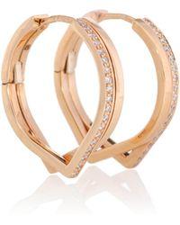 Repossi - Boucles d'oreilles en or rose 18 ct et diamants Antifer - Lyst