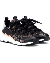 Pierre Hardy - Sneakers Trek Comet mit Leder - Lyst