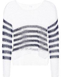 Anna Kosturova - Sailor Crocheted Cotton Sweater - Lyst