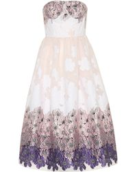 Huishan Zhang - Victoria Floral Jacquard Dress - Lyst