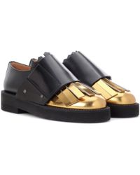 Marni - Metallic Leather And Leather Monk Shoes - Lyst