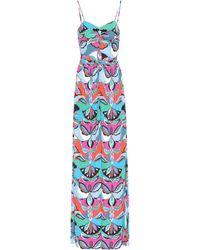 Emilio Pucci - Printed Silk-blend Jumpsuit - Lyst