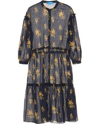M.i.h Jeans - Lyra Floral Cotton Midi Dress - Lyst