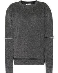 Christopher Kane - Metallic Jersey Sweatshirt - Lyst
