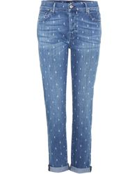 7 For All Mankind - Josefina High-rise Skinny Jeans - Lyst