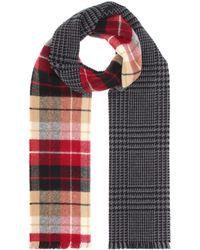Miu Miu - Plaid Wool-blend Scarf - Lyst